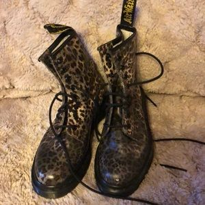 Doc Marten animal print boots